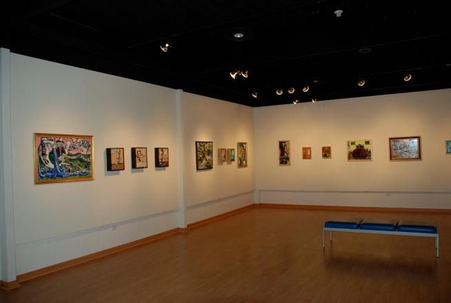 Dan Gerdeman's work hanging at Nutting Gallery.