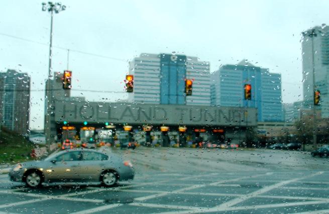 Entering Hoboken near the Holland Tunnel