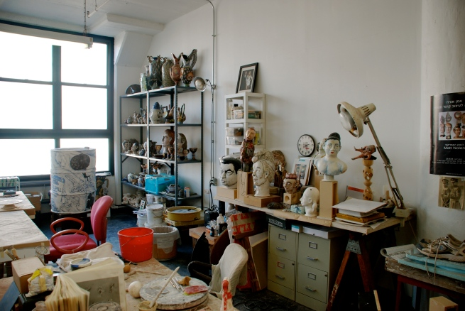 A corner in Matt's studio.