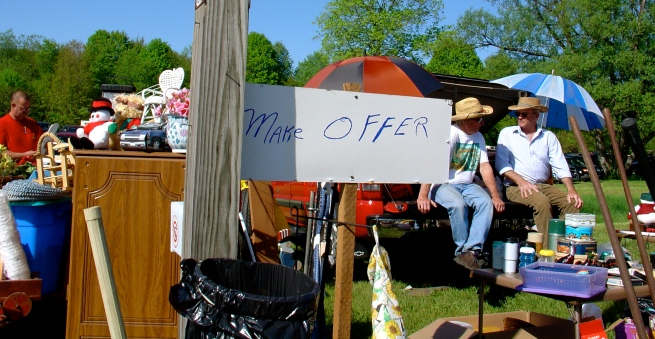 This is one of my favorite signs at a flea market.