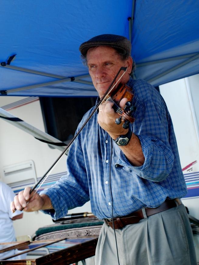 Michael Markley plays his violin.