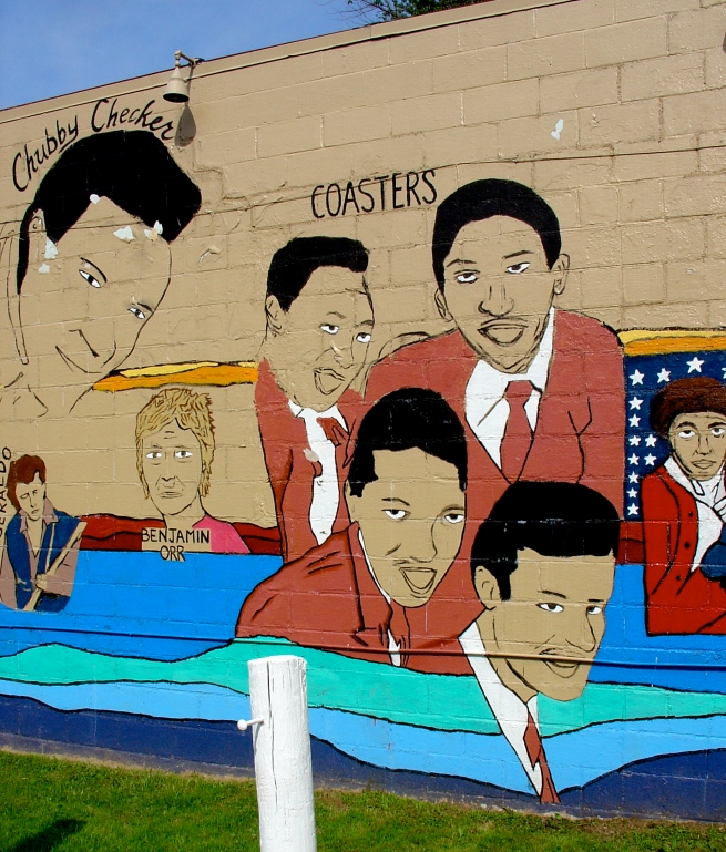 Mural detail: The Coasters.