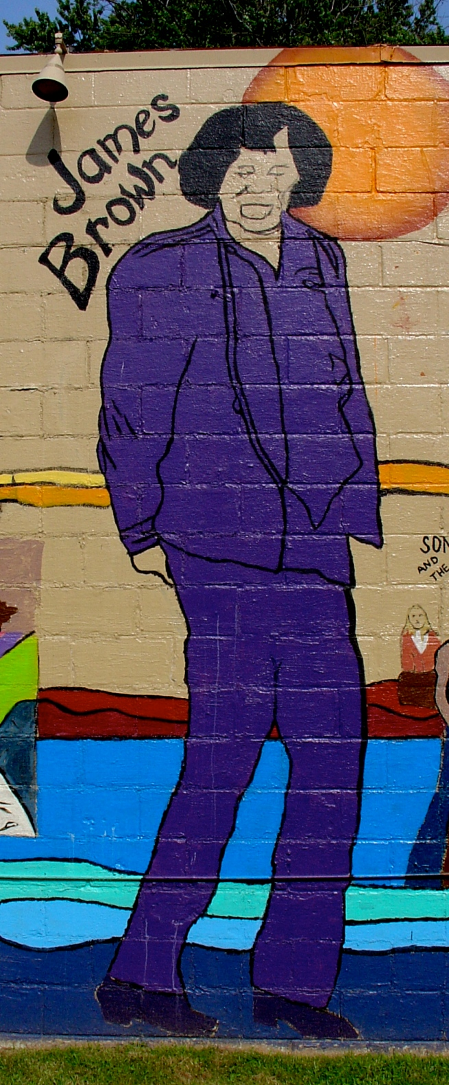 Mural detail: James Brown.