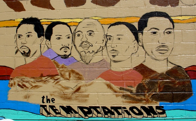 Mural detail: The Temptations.