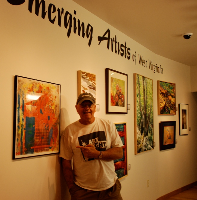 Me at the Emerging Artists of WV exhibition.