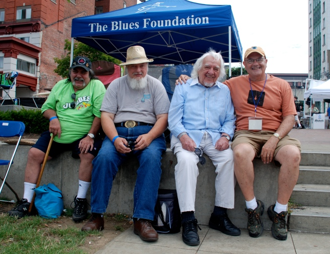 Phil from Yorkville, Tom Doepken, Jay Stock, & me at Blues Fest.