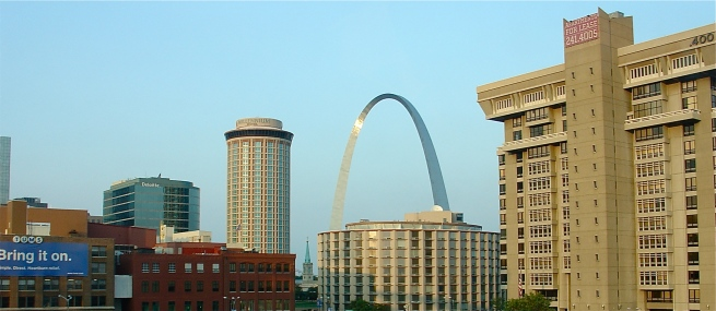Entering St. Louis.