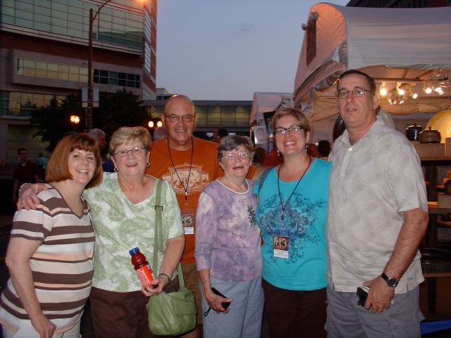 Jane, Pat (Chris' mom), me, Aunt Cetty, Chris, and Tom.