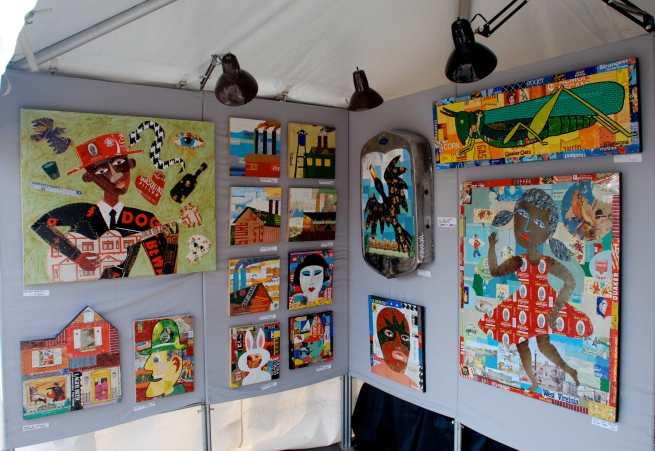 A portion of my booth at the St. Louis Art Fair.