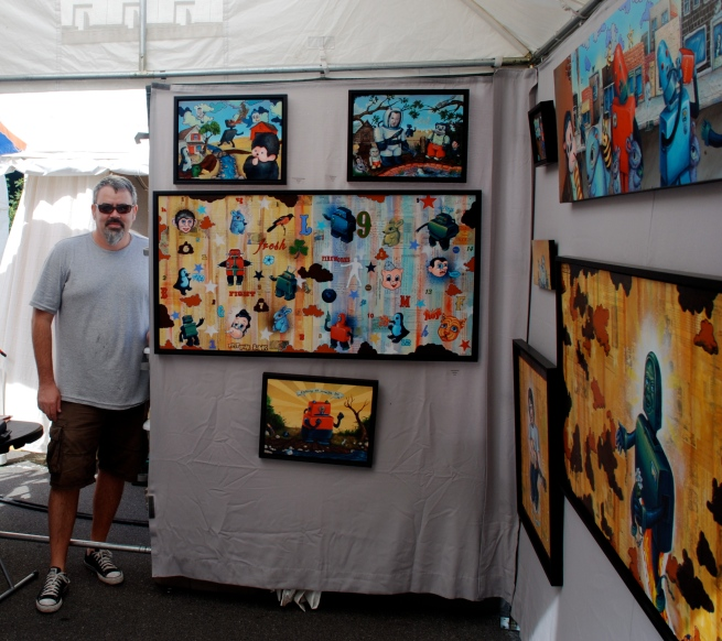 Painter Tim Hooper who we first met at Pittsburgh's 3 Three Rivers Arts Festival a few years back.