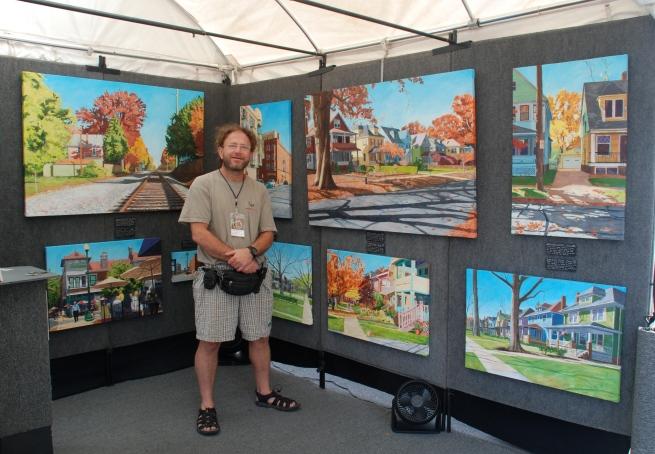 Painter Michael Pomerantz of Lakewood, OH.
