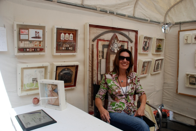 Assemblage guru (and painter) Lynn Whipple.