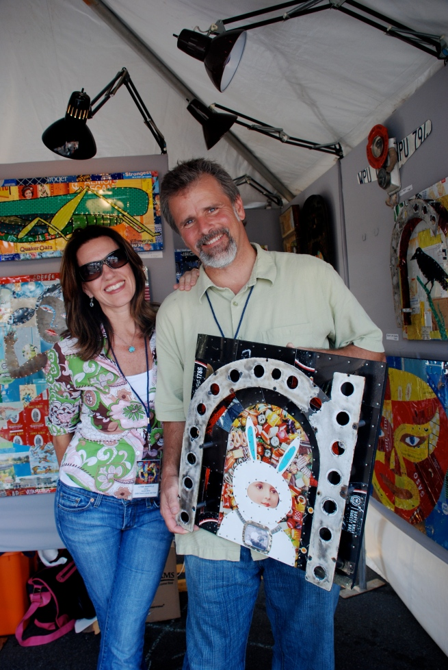 """Lynn and John Whipple with my """"Bunny with Bling""""."""