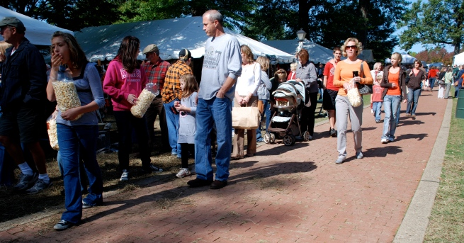 Part of the Saturday crowd at the Oglebayfest Artist Market.