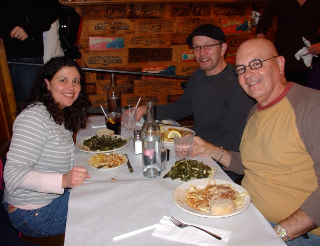 Lisa, Stephen, and myself having lunch at Enrico's Biscotti. The pumpkin linguini is delicious!