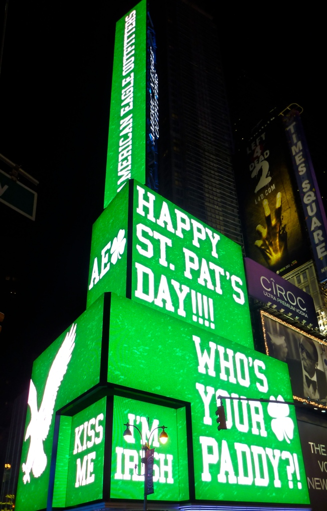 St, Patrick's Day, Times Square style.