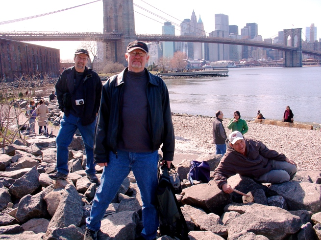 Padge in Dumbo. He loved NYC, and we made fifteen trips there with WLU students.
