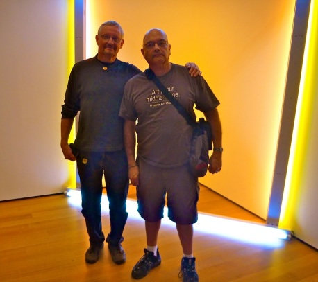 Paul and I in front of a light installation somewhere in Chelsea.