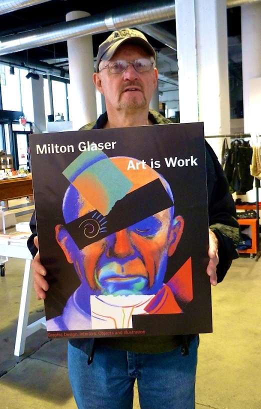 We were at Powerhouse Arena, a great bookstore in Dumbo, when Padge saw a poster advertising a book by one of his design heroes.