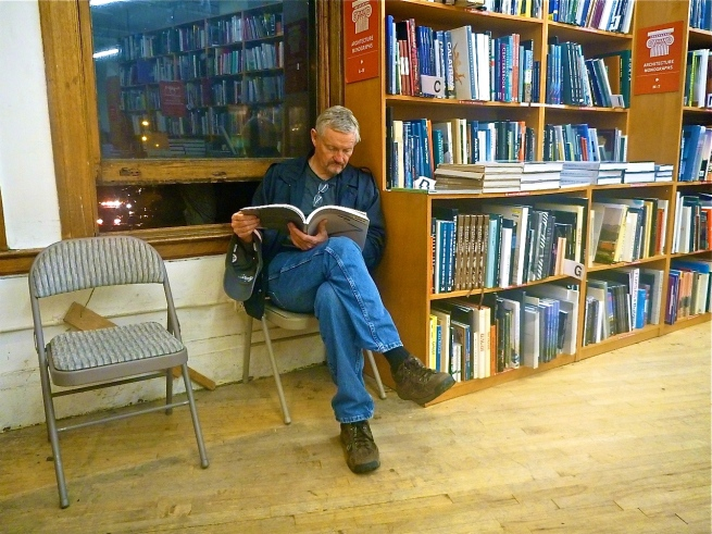 Padge checking out the design books at our favorite bookstore, the Strand, in NYC. This is my favorite photo I ever took of my friend.
