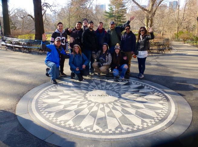 Remembering the Padge at Strawberry Fields in Central Park.