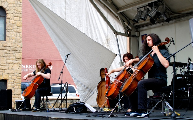 Another big hit at Arts Fest was the high energy Cello Fury.