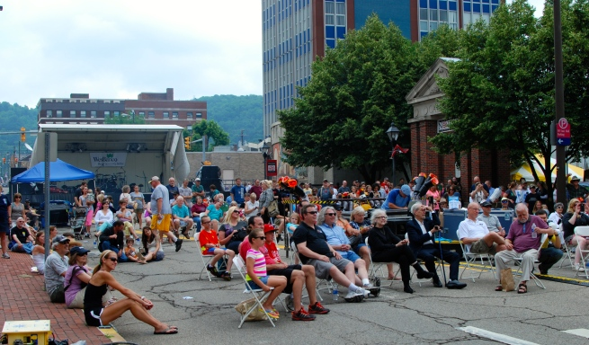Arts Fest visitors enjoy Squonk Opera.