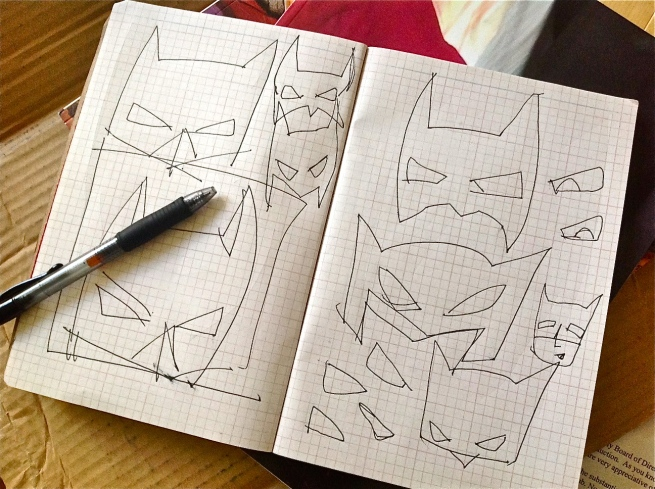 Working out the mask.