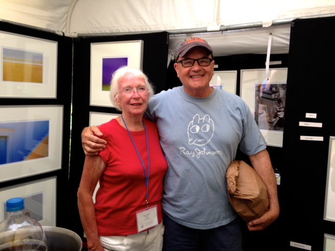 Best of Show recipient, photographer Patricia Wilder, and myself.